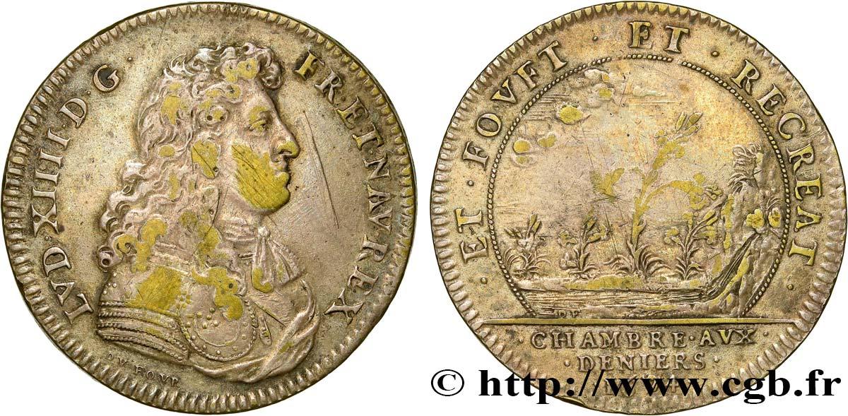 Chambre aux deniers louis xiv cuivre argent 1674 vf fjt for Chambre louis xiv