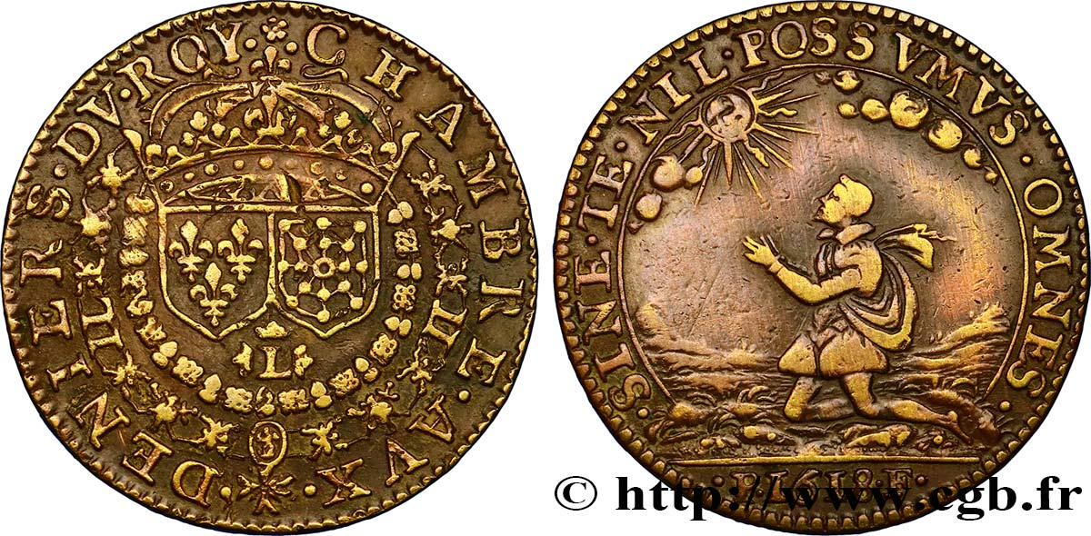 Chambre aux deniers louis xiii 1618 au fjt 289301 jetons for Chambre louis 13