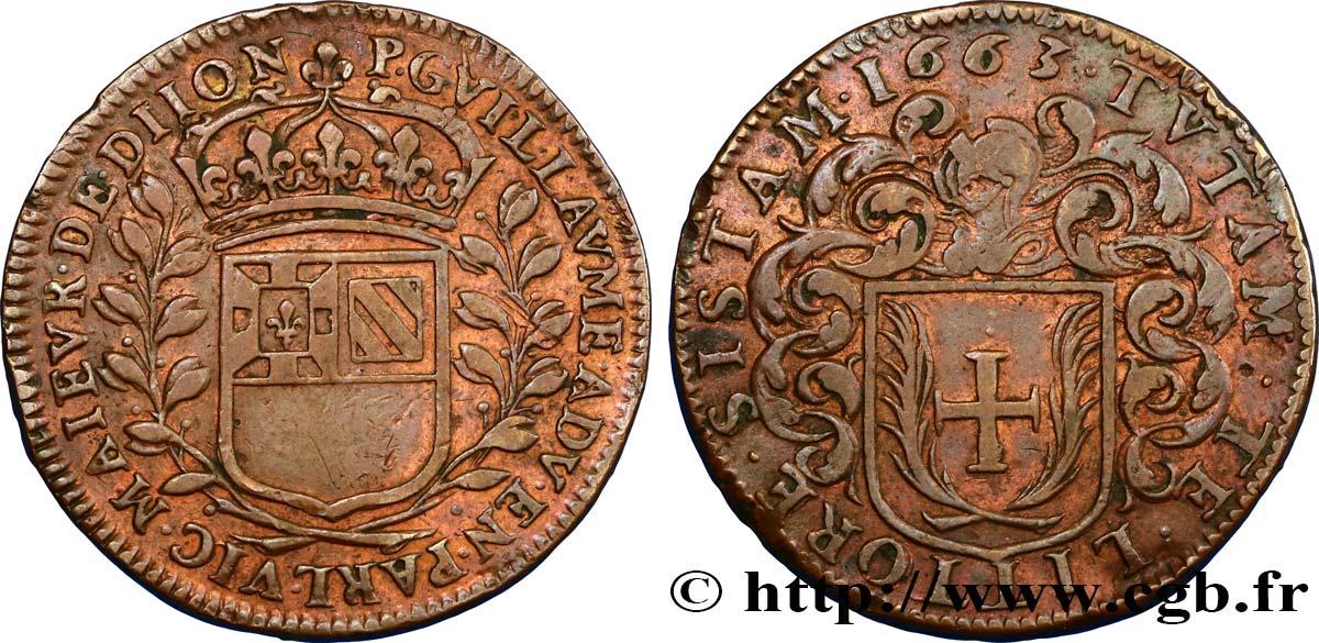 Jeton de Pierre Guillaume, 1663, maire de la ville de Dijon ... Fjt_417547