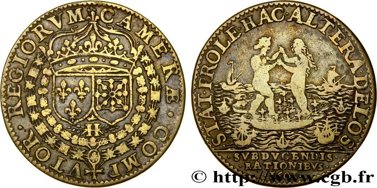 """Jeton pour Henri IV, Chambre des Comptes """"CAMERAE COMPVTOR REGIORUM"""" 1603 ... Fjt_447837"""
