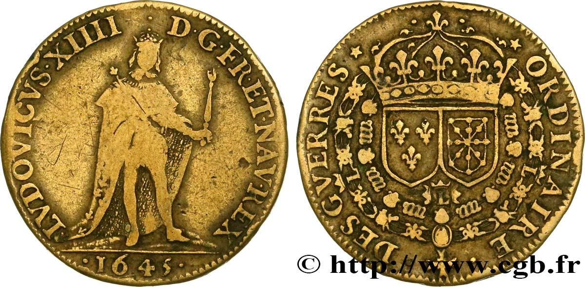 LUDOVICUS XIIII ,1645 , DES GUERRES ORIDINARIE Fjt_450724