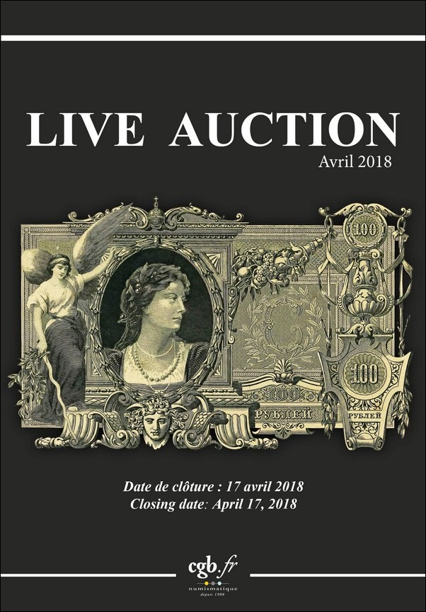Live Auction Billets Avril 2018  CORNU Joël, DESSAL Jean-Marc, VANDERVINCK Claire