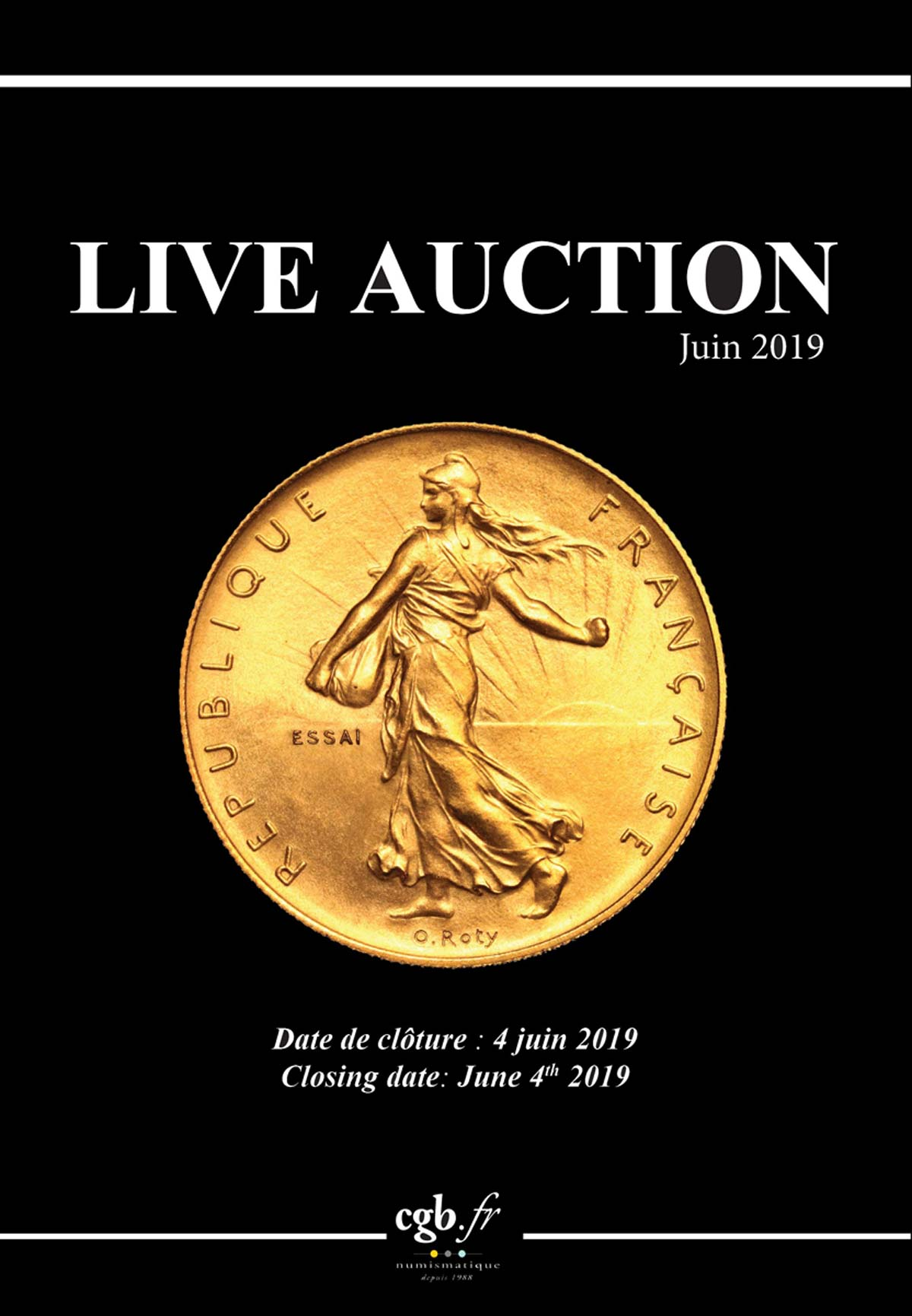 Live Auction - Juin 2019 CLAIRAND Arnaud, COMPAROT Laurent, CORNU Joël, DESSERTINE Matthieu, PARISOT Nicolas, SCHMITT Laurent, VOITEL Laurent
