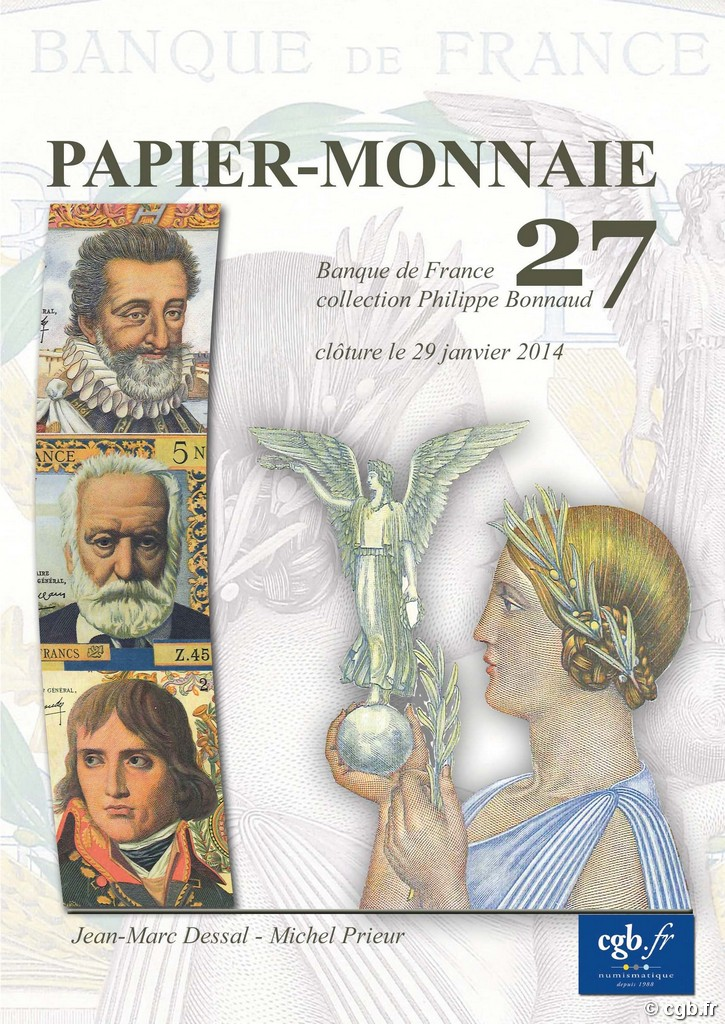 PAPIER-MONNAIE 27 - Banque de France - Collection Philippe Bonnaud DESSAL Jean-Marc, PRIEUR Michel