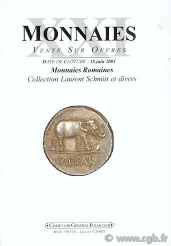 Monnaies 21 - Monnaies Romaines, collection Laurent Schmitt PRIEUR Michel, SCHMITT Laurent