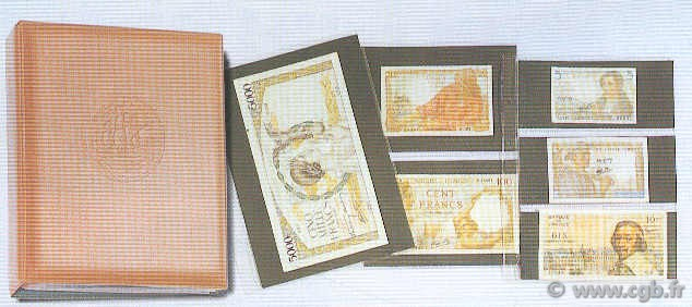 Classeur brun Louis Billets avec 10 pages assorties IMAGE-DOCUMENT