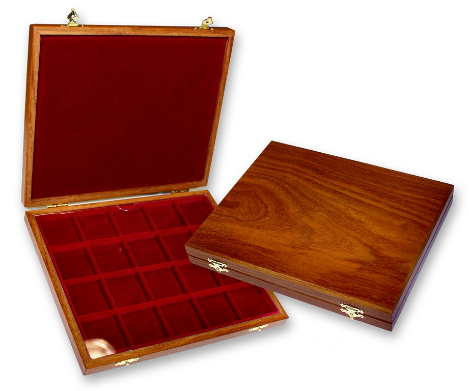 Petit coffret bois 1 plateau 20 cases (avec protection en  ~ Petit Coffret Bois