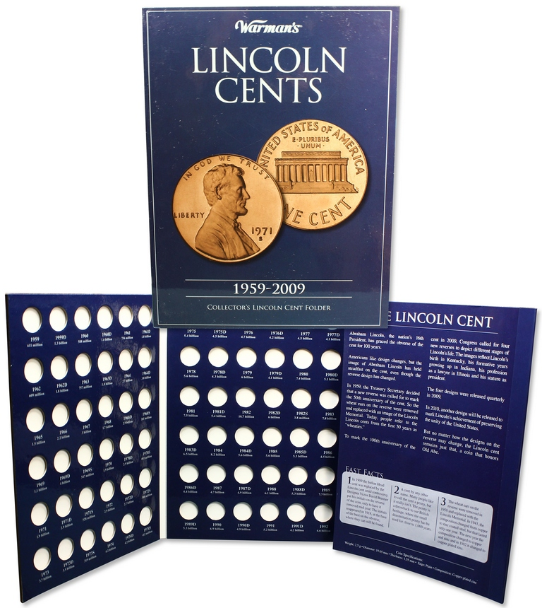 Album carton - Collector  Lincoln Cents 1959 - 2009  KRAUSE