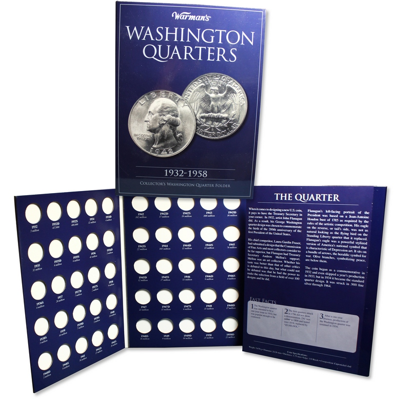 Album carton - Collector  Washington Quarters 1932 - 1958  KRAUSE