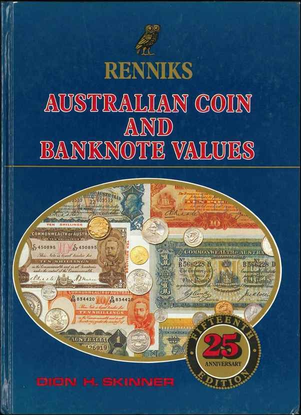 Renniks Australian coin and Banknote values SKINNER Dion H.