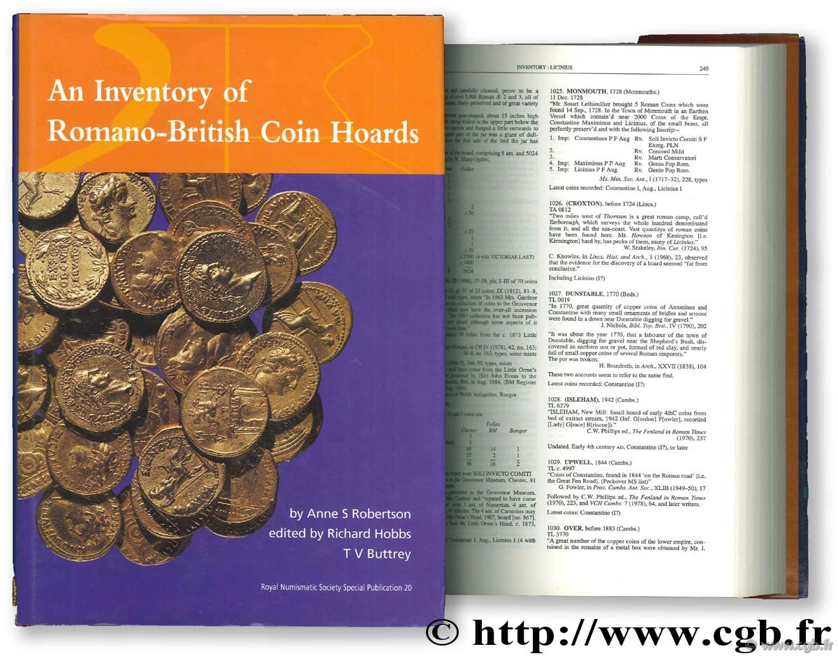An Inventory of Romano-British Coins Hoards ROBERTSON A.-S.