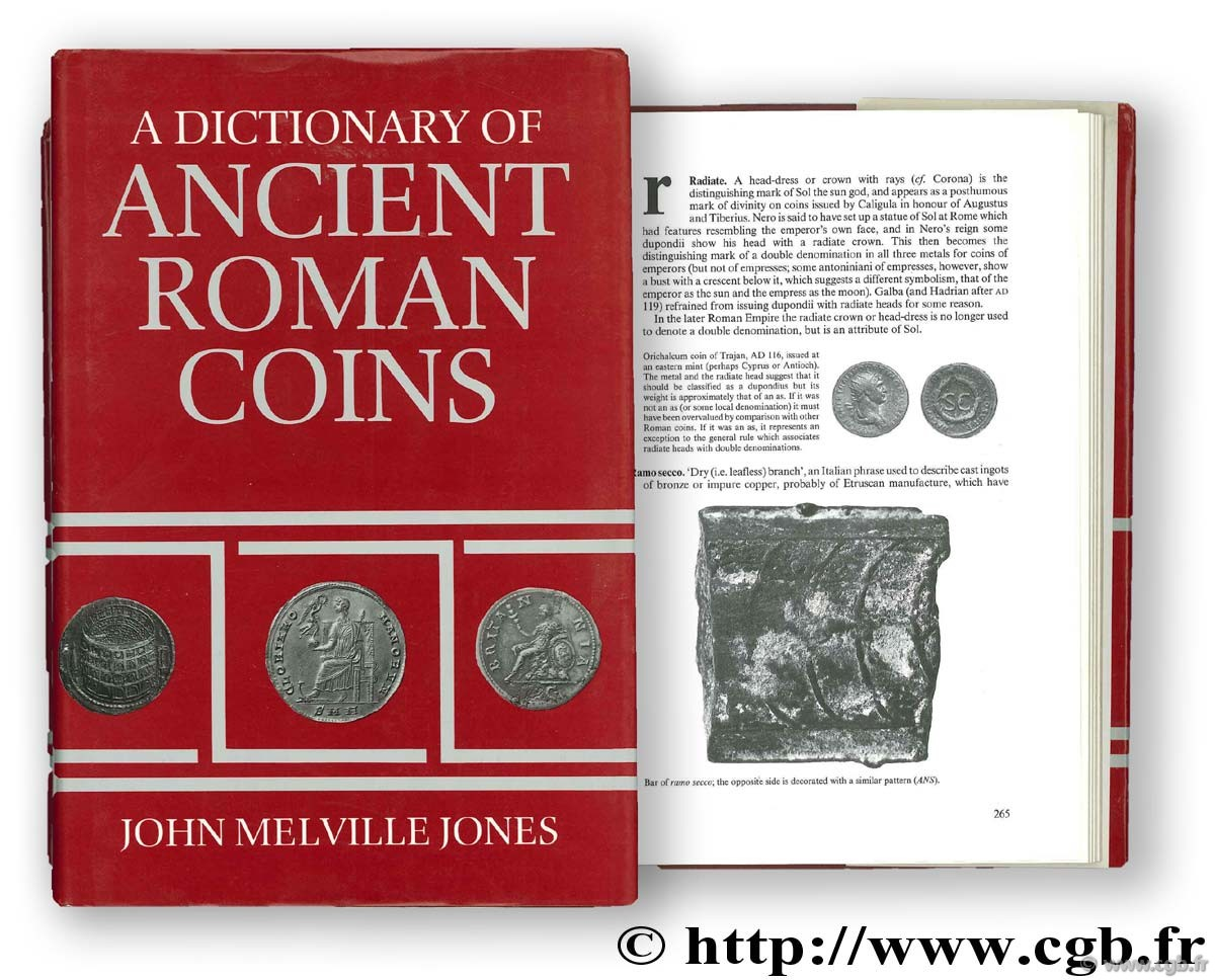 A dictionary of ancient roman coins MELVILLE-JONES J.-R.