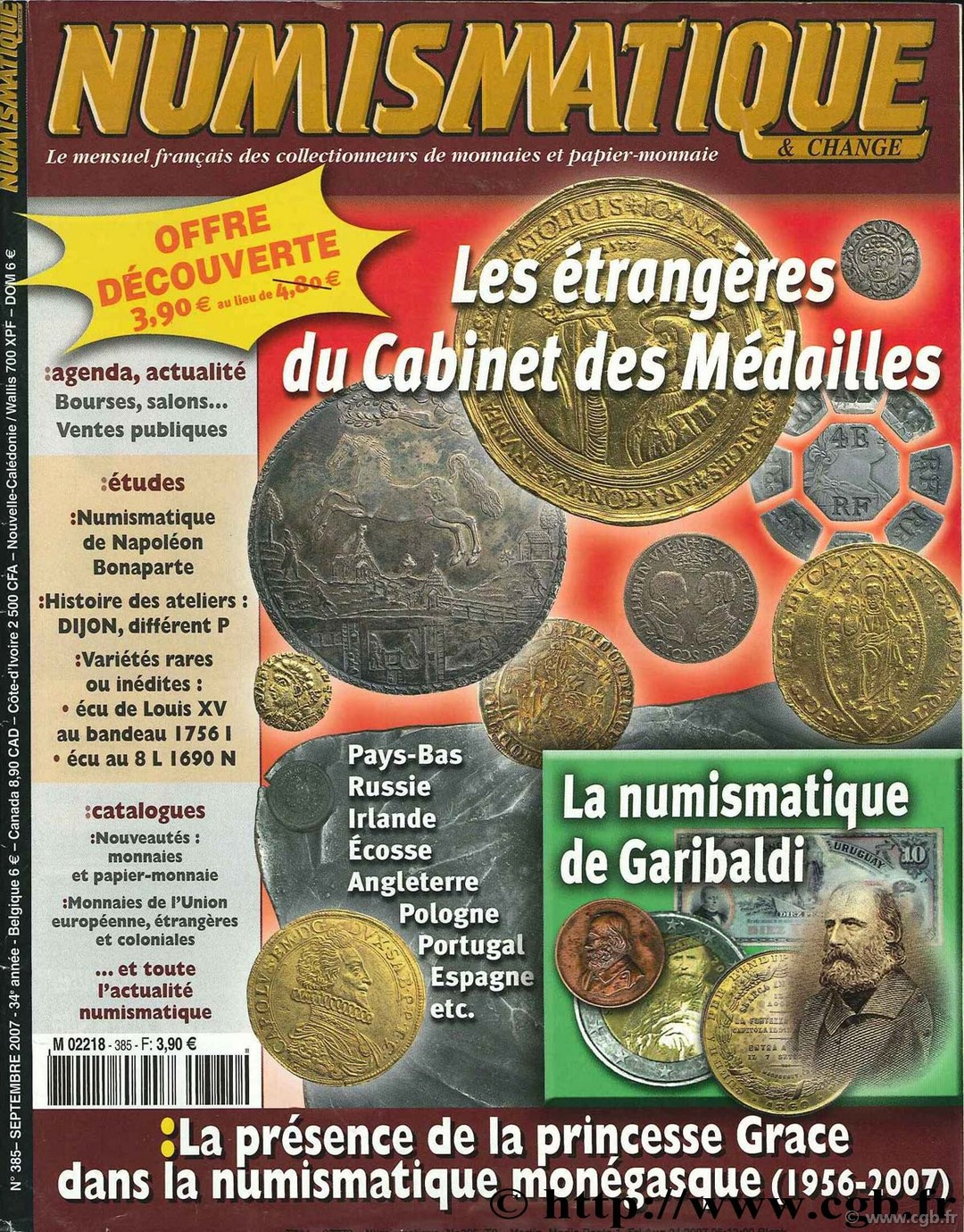 Numismatique & Change, Septembre 2007, n°385 NUMISMATIQUE ET CHANGE
