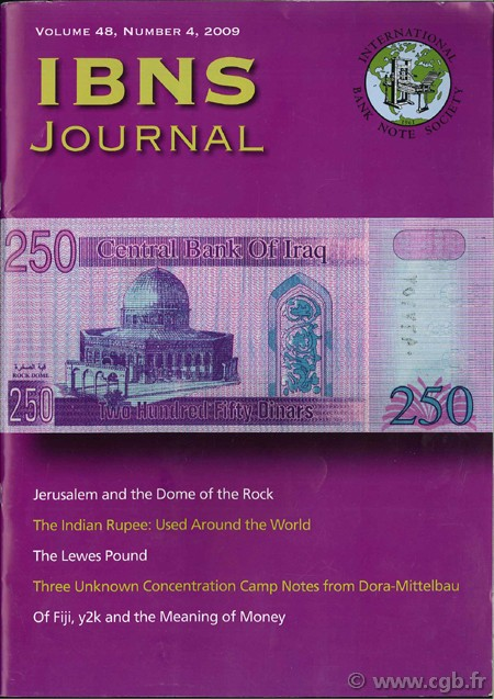 International bank note society journal 2009 volume 48, n°4