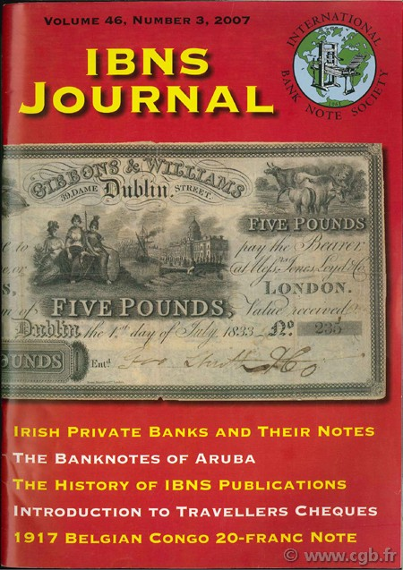 International bank note society journal 2007 volume 46, n°3