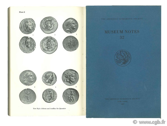 Museum notes 32, the american numismatic society