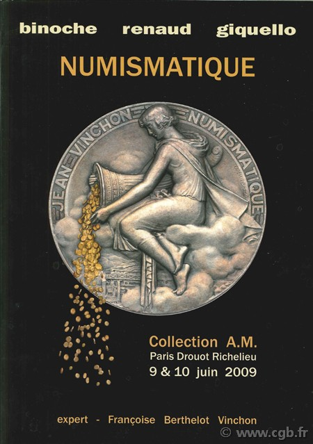 Numismatique - Collection A.M.  BERTHELOT VINCHON F.