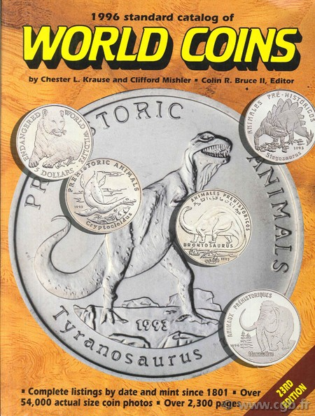 1996 standard catalogue of world coins - 1801 - over - 23rd ed. KRAUS L. Chester, Clifford Mishler