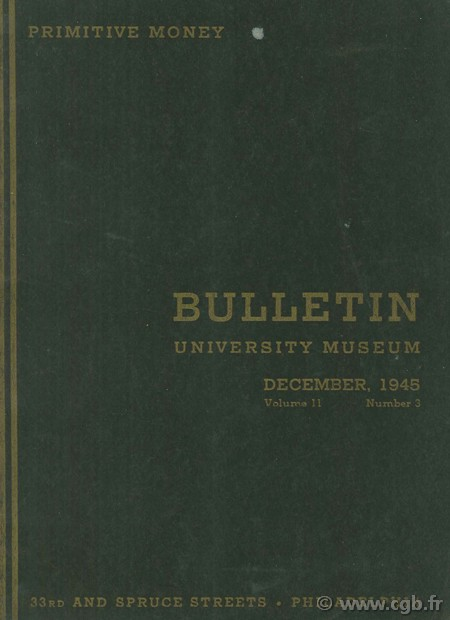 Bulletin university museum, volume 11, number 3 Collectif