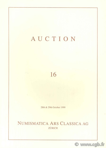 Numismatic Ars Classica AG, Auction 16, 28th & 29th October 1999