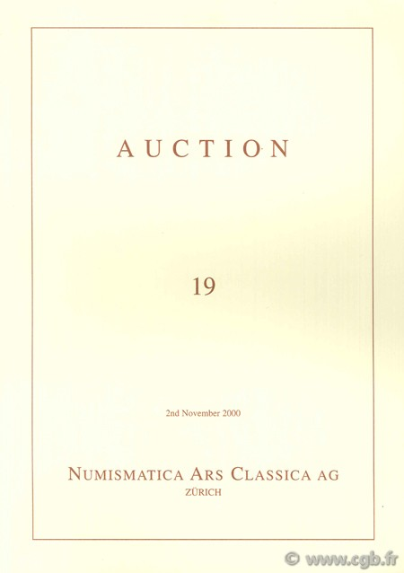 Numismatic Ars Classica AG, Auction 19, 2nd November 2000