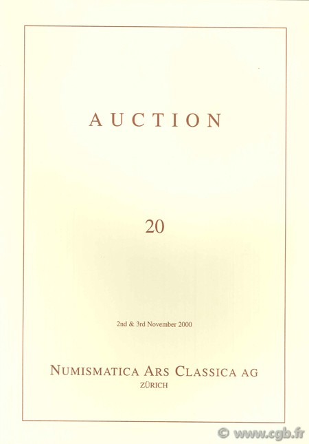 Numismatic Ars Classica AG, Auction 20, 2nd & 3rd November 2000