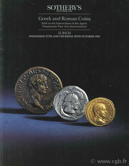 Sotheby s, Greek and Roman Coins, 27th and 28th october 1993