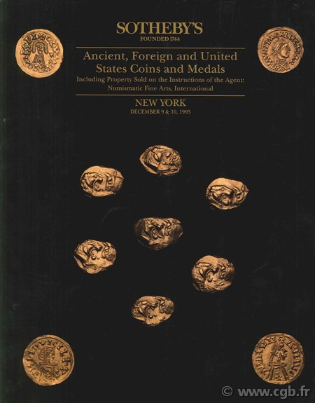 Sotheby s, Ancient, Foreign and United States Coins and Medals, december 9 & 10, 1993