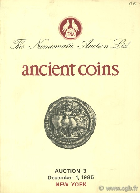 Auction 3, Ancient coins, December 1, 1985 BENDENOUN D.