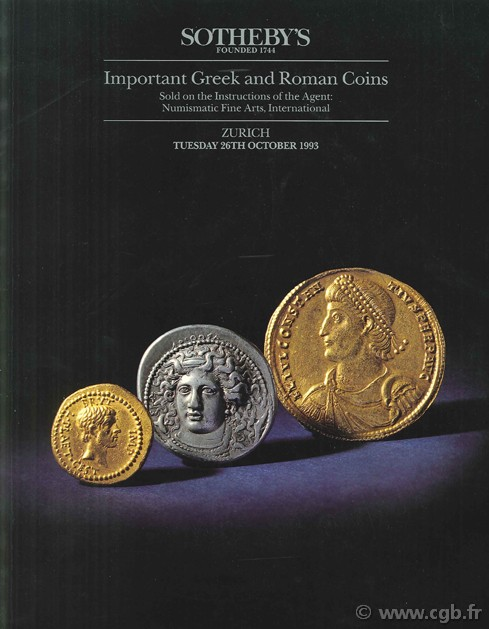 Sotheby s, Important Greek and Roman Coins, 26th october 1993