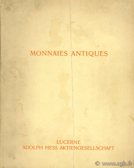 Catalogue de monnaies grecques et romaines