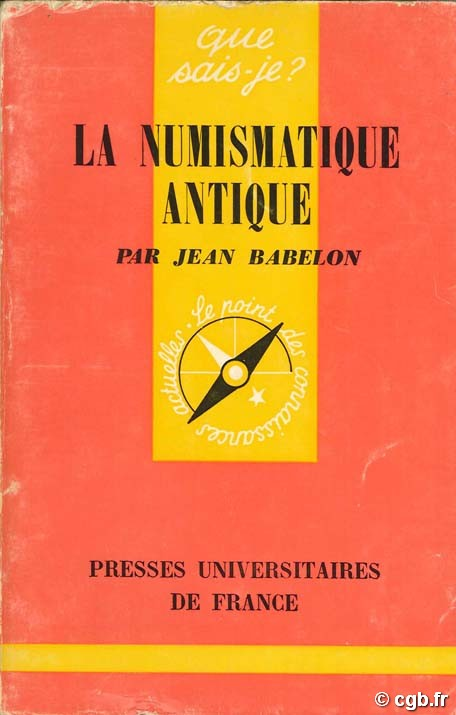 La numismatique antique  BABELON J.