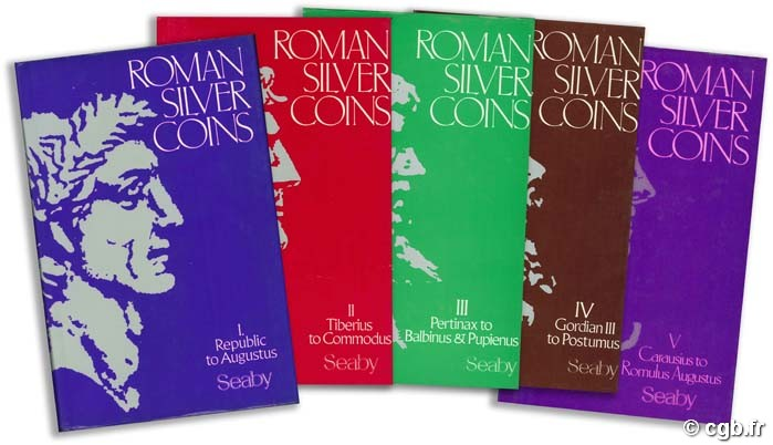 Roman silver coins, vol.I à V (complet) SEABY H. A.