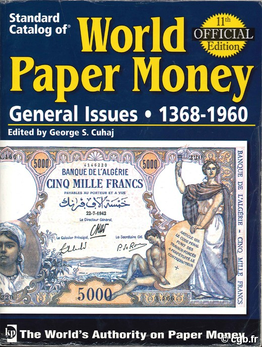 World Paper Money - General Issues 1368-1960. Vol.2. 11th Edition A. PICK