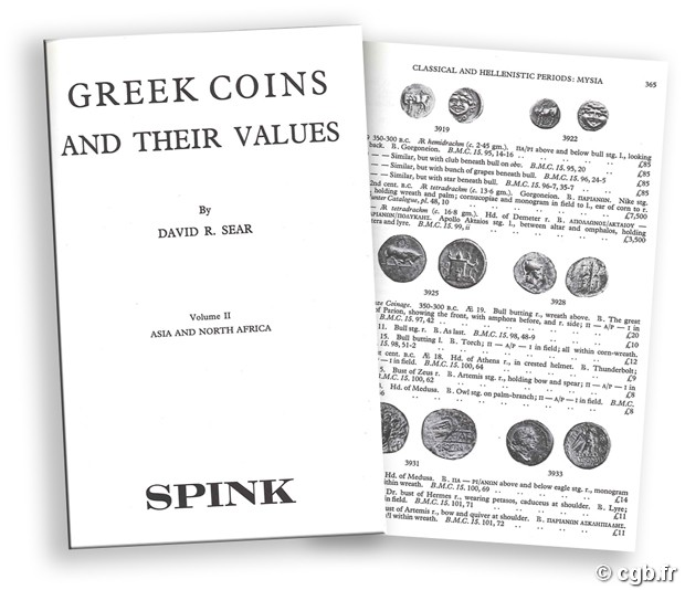 Greek Coins and their Values - Vol. II Asia and North Africa D.R. SEAR