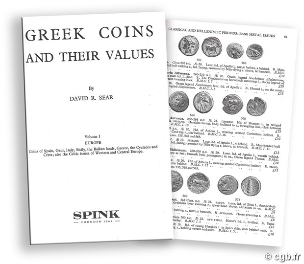Greek Coins and their Values - Vol. I Europe D.R. SEAR