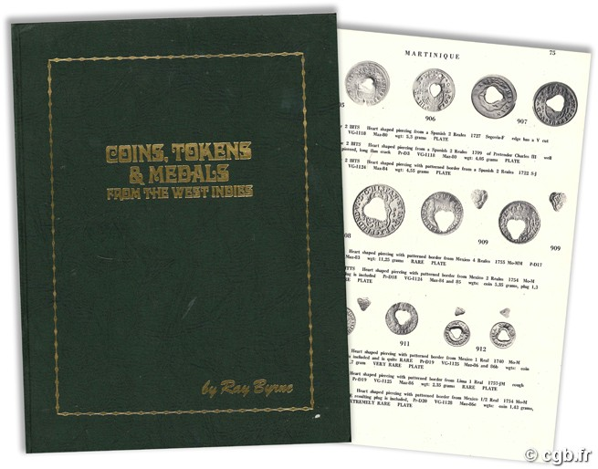 Coins, tokens and medals from the west indies R. BYRNE