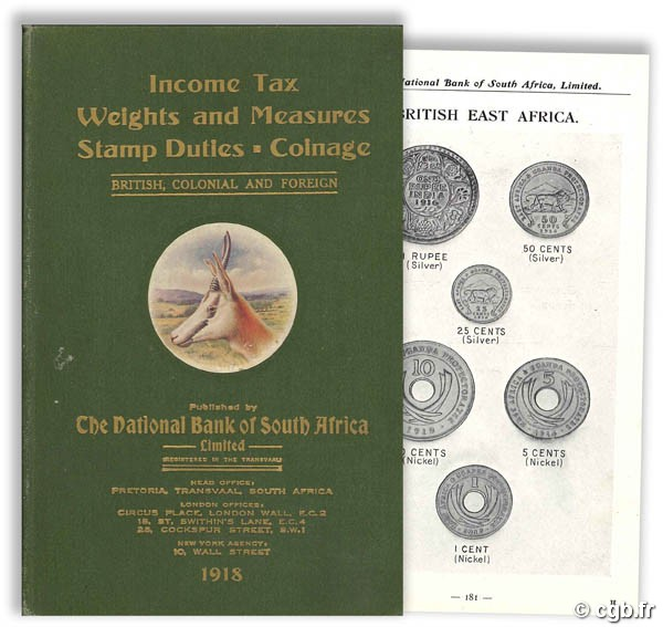 Income tax. Weights and measures. Stamp duties. Coinage. - British, Colonial and Foreign