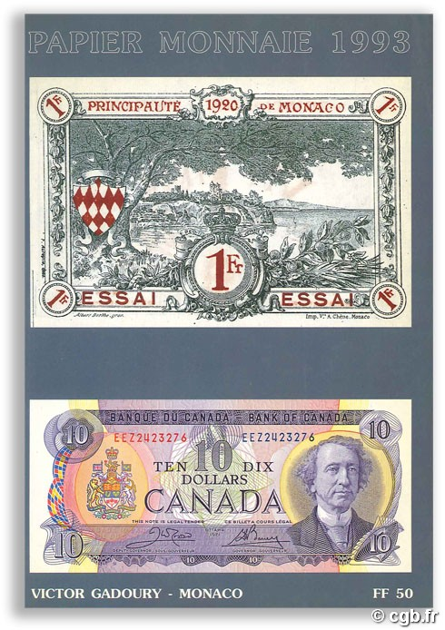 Paper money 1993 GADOURY V.