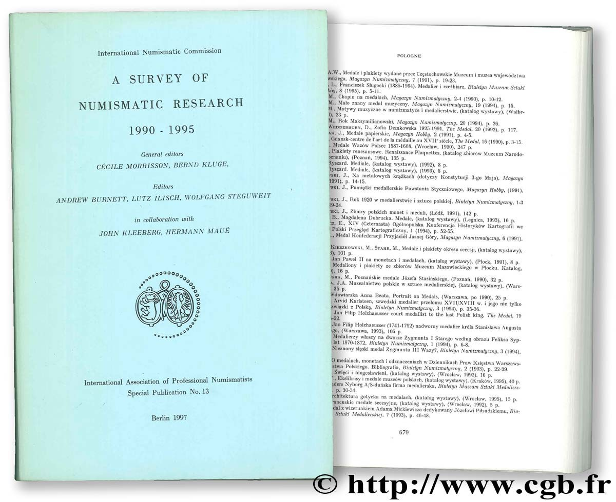 A survey of Numismatic Research 1990 - 1995