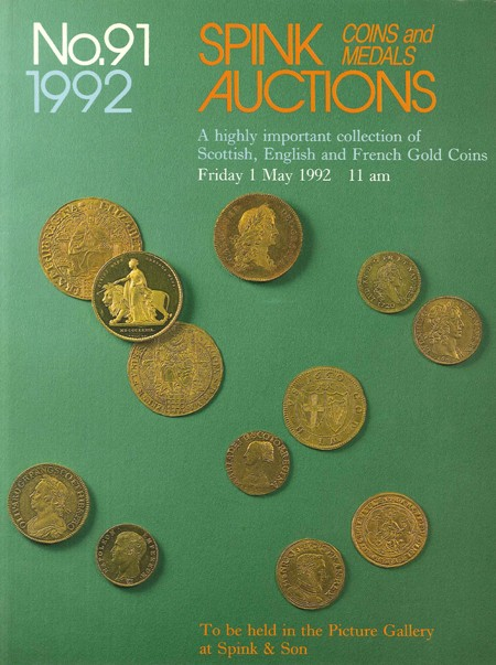 A higly important collection of Scottish, English and French gold coins SPINK