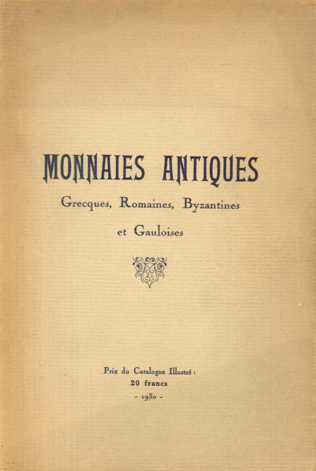 Monnaies antiques grecques, romaines, byzantines et gauloises - Collection A.  PLATT C.