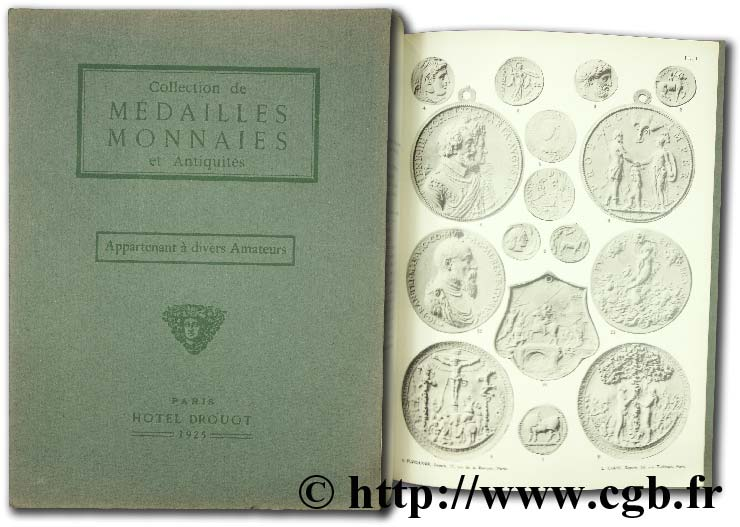 Collection de médailles monnaies et antiquités appartenant à divers amateurs CIANI L.