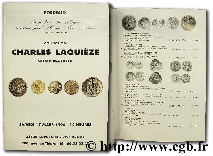 Collection Charles Laquièze, numismatique BARRE G.