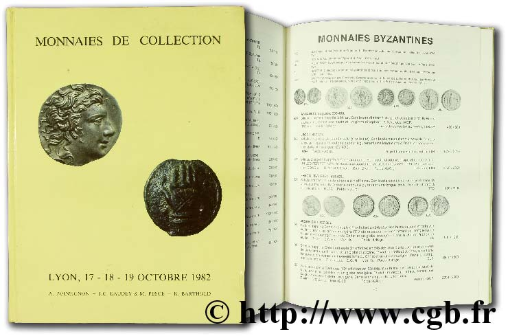 Monnaies de collection, 17-18-19 octobre 1982 BARTHOLD R., BAUDEY J.-C., PESCE M., POINSIGNON A.