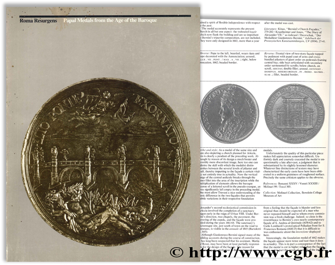 Roma Resurgens : Papal Medals from the Age of the Baroque WHITMAN N.-T., VARRIANO J.-L.