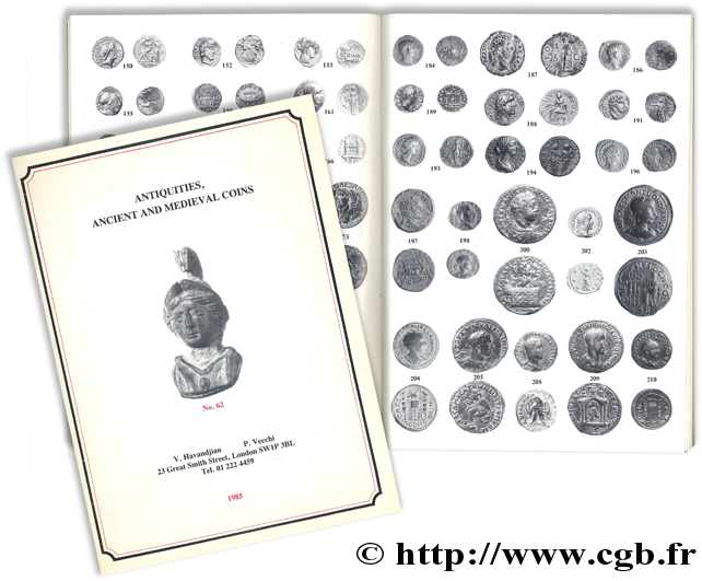 Antiquities, ancient and medieval coins - n° 62 HAVANDJIAN V., VECCHI P.