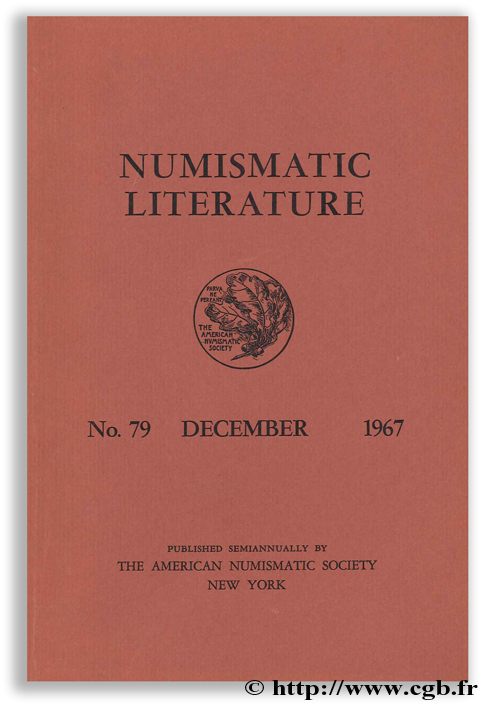 Numismatic literature, No. 79, December 1967
