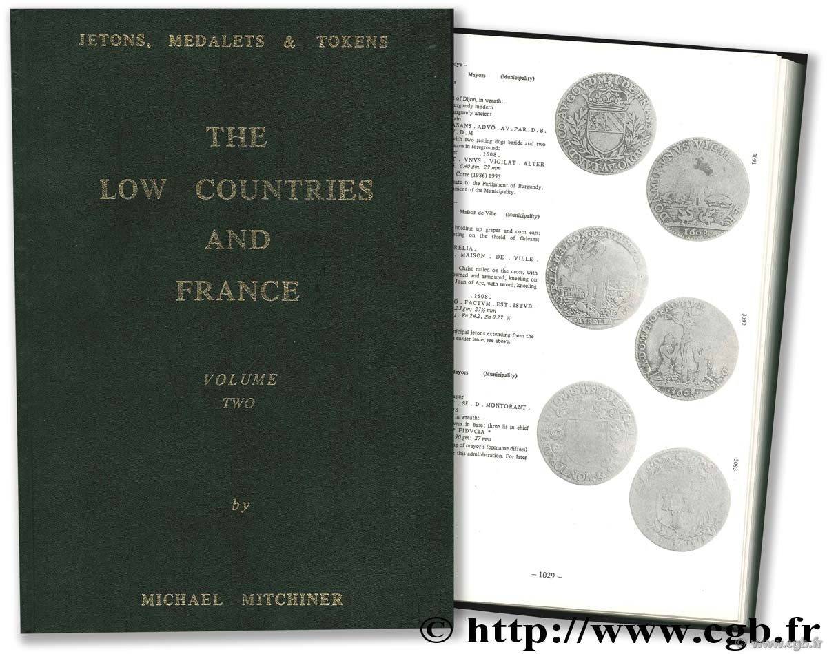 Jetons, medalets & tokens - the low countries and France - Volume two MITCHINER M.