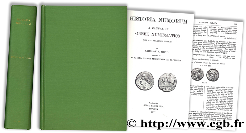 Historia Numorum, a manual of Greek Numismatics - New and enlarged edition HEAD B.-V.